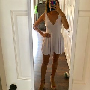 Urban Outfitters Scalloped Romper - WORN ONCE